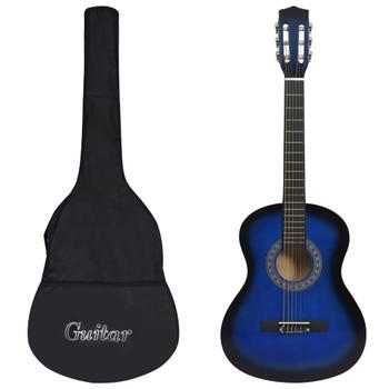 """vidaXL Klasična gitara za početnike s torbom plava 3/4 36 """""""