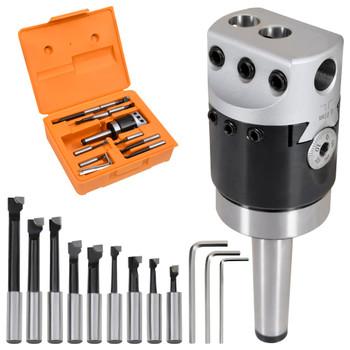 vidaXL 15-dijelni set alata za bušenje s glavom od 50 mm MT2-F1-12
