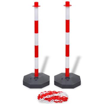 vidaXL Set od 4 stupa i 2 plastična lanca po 10 m