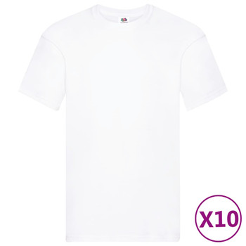 Fruit of the Loom originalne majice 10 kom bijele S pamučne