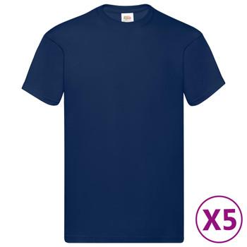 Fruit of the Loom originalne majice 5 kom modre XL pamučne