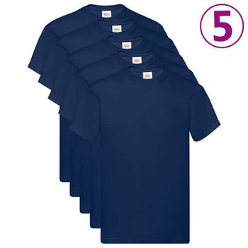 Fruit of the Loom originalne majice 5 kom modre 5XL pamučne