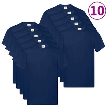 Fruit of the Loom originalne majice 10 kom modre S pamučne