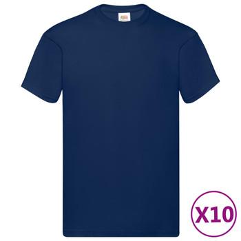 Fruit of the Loom originalne majice 10 kom modre 4XL pamučne