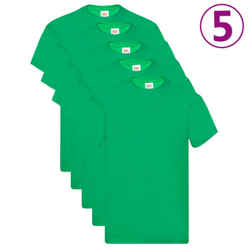 Fruit of the Loom originalne majice 5 kom zelene S pamučne