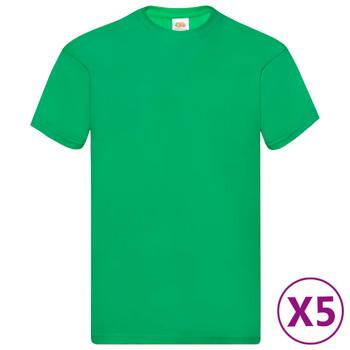 Fruit of the Loom originalne majice 5 kom zelene M pamučne