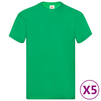 Fruit of the Loom originalne majice 5 kom zelene 3XL pamučne