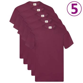 Fruit of the Loom originalne majice 5 kom bordo 3XL pamučne