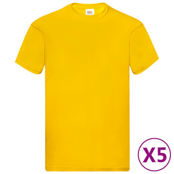 Fruit of the Loom originalne majice 5 kom žute L pamučne