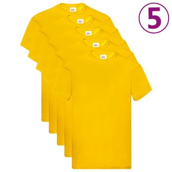 Fruit of the Loom originalne majice 5 kom žute XXL pamučne