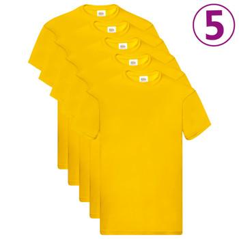 Fruit of the Loom originalne majice 5 kom žute 3XL pamučne
