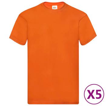 Fruit of the Loom originalne majice 5 kom narančaste XL pamučne