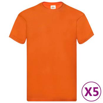 Fruit of the Loom originalne majice 5 kom narančaste 3XL pamučne