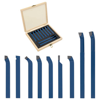vidaXL 11-dijelni set karbidnih alata za tokarenje 8 x 8 mm P30