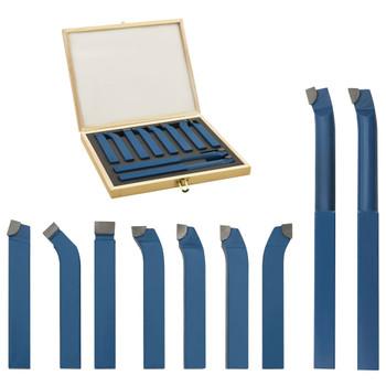 vidaXL 11-dijelni set karbidnih alata za tokarenje 12 x 12 mm P30