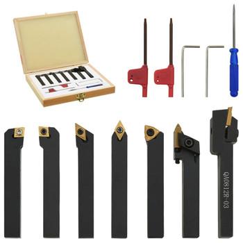 vidaXL 12-dijelni set izmjenjivih alata za tokarenje 8 x 8 mm 60 mm