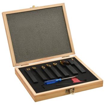 vidaXL 12-dijelni set izmjenjivih alata za tokarenje 12 x 12 mm 80 mm