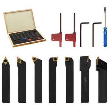 vidaXL 12-dijelni set izmjenjivih alata za tokarenje 16 x 16 mm 115 mm