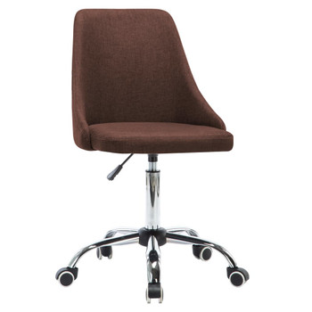 vidaXL Uredske stolice od tkanine s kotačima 2 kom smeđe