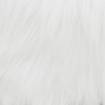 vidaXL Stolac od masivne tikovine bijeli