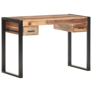vidaXL Radni stol 110x50x76 cm od masivnog drva s obradom od šišama