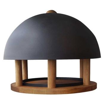 Esschert Design hranilica za ptice s okruglim čeličnim krovom FB429