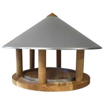 Esschert Design hranilica za ptice s trokutastim krovom od cinka FB431