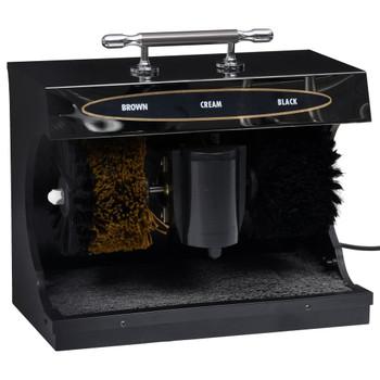 vidaXL Električni stroj za poliranje cipela potpuno automatski crni