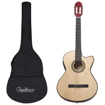 vidaXL 12-dijelni set gitare Western s ujednačivačem i 6 žica