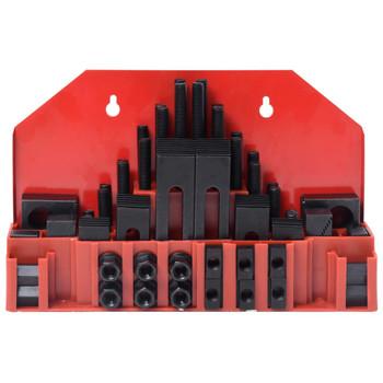 vidaXL 58-dijelni set za stezanje s T-utorom čelični M12