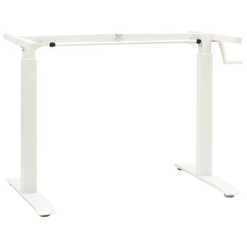 vidaXL Podesivi okvir za radni stol s ručicom za rad stojeći bijeli