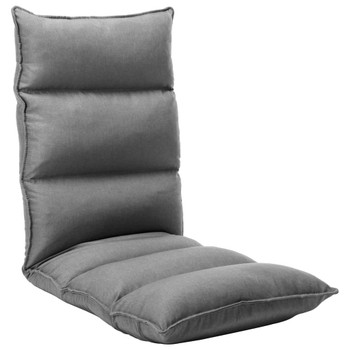 vidaXL Sklopiva podna stolica od tkanine svjetlosiva