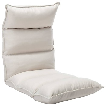 vidaXL Sklopiva podna stolica od tkanine krem