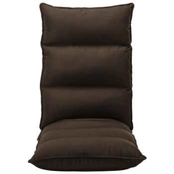 vidaXL Sklopiva podna stolica od tkanine smeđa