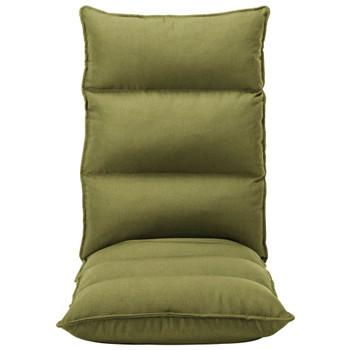 vidaXL Sklopiva podna stolica od tkanine zelena