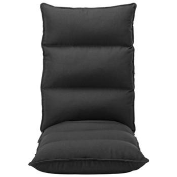 vidaXL Sklopiva podna stolica od tkanine crna