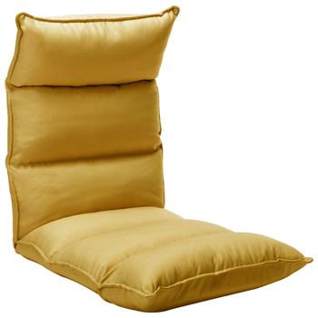 vidaXL Sklopiva podna stolica od tkanine boja senfa