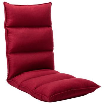 vidaXL Sklopiva podna stolica od tkanine crvena boja vina