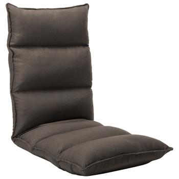 vidaXL Sklopiva podna stolica od tkanine smeđe-siva