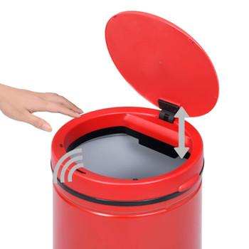 vidaXL Automatska kanta sa senzorom 70 L ugljični čelik crvena