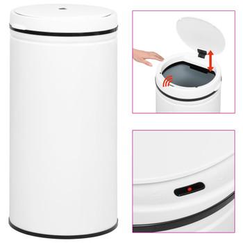 vidaXL Automatska kanta sa senzorom 70 L ugljični čelik bijela