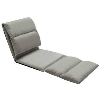 vidaXL Sklopiva podna stolica od mikrovlakana tamnosiva
