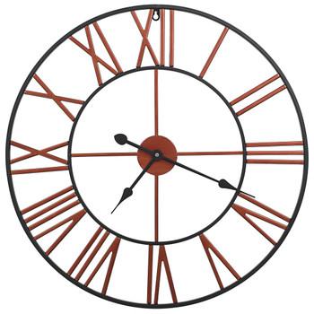 vidaXL Zidni sat metalni 58 cm crveni