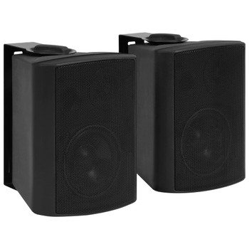 vidaXL Zidni stereo zvučnici 2 kom crni unutarnji/vanjski 80 W