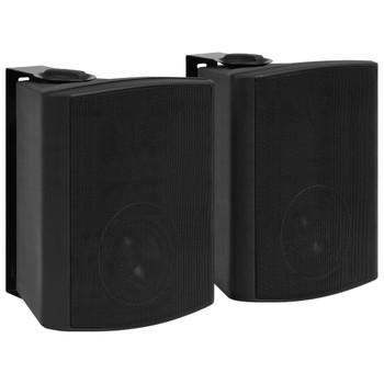 vidaXL Zidni stereo zvučnici 2 kom crni unutarnji/vanjski 120 W