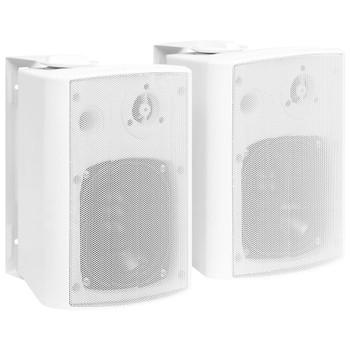 vidaXL Zidni stereo zvučnici 2 kom bijeli unutarnji/vanjski 100 W