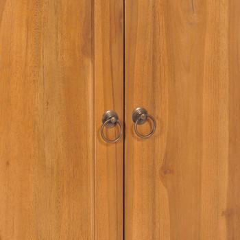vidaXL Ormarić s policama Yin Yang 70 x 30 x 130 cm masivna tikovina