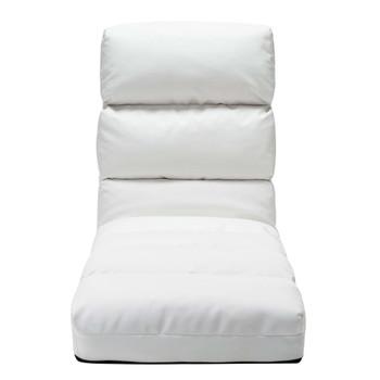 vidaXL Sklopiva podna stolica od umjetne kože bijela