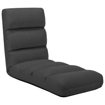 vidaXL Sklopiva podna stolica od umjetne kože antracit