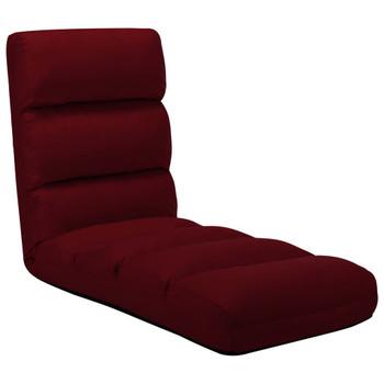 vidaXL Sklopiva podna stolica od  umjetne kože crvena boja vina